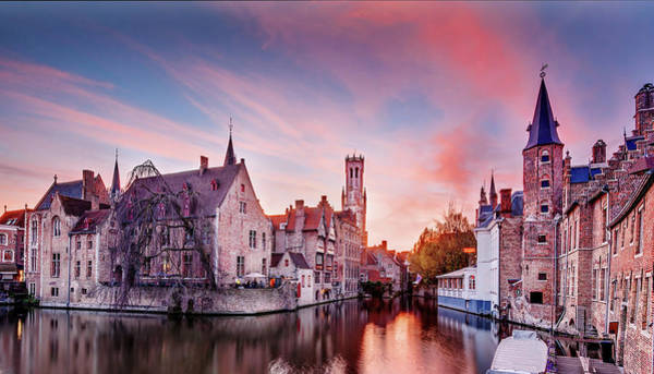 Photograph - Bruges Sunset by Barry O Carroll