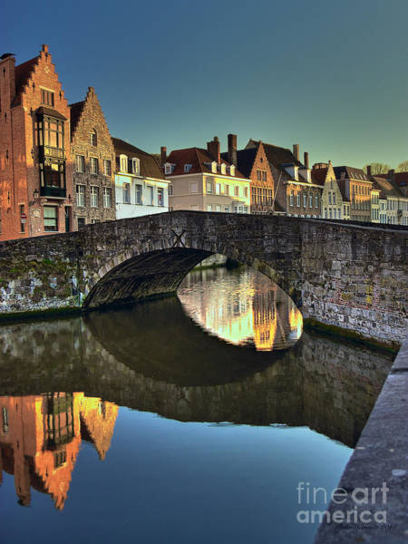 Photograph - Bruges Twighlight by Peter Kennett