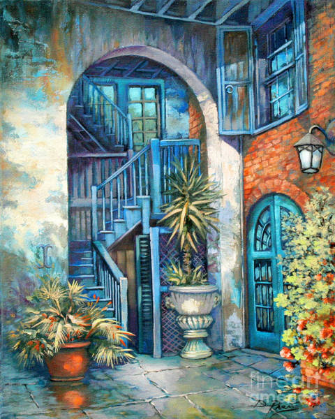 Wall Art - Painting - Brulatour Courtyard by Dianne Parks