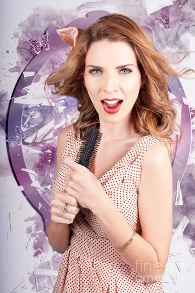 Beauty Salon Photograph - Brunette Salon Girl With Smashing New Hair Style by Jorgo Photography - Wall Art Gallery