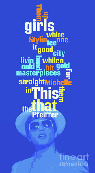 Straight Digital Art - Bruno Mars, Order The Words. Do You Know This Song? by Drawspots Illustrations