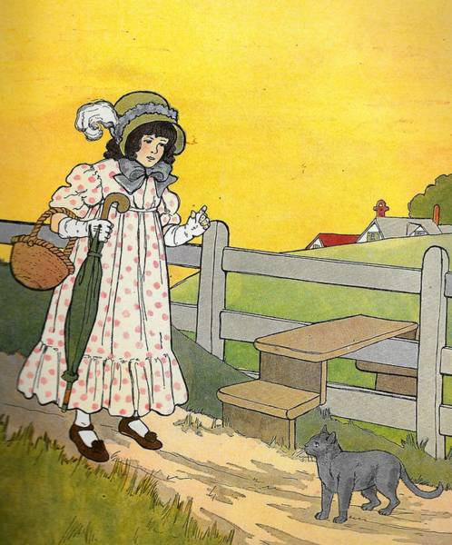 Mother Goose Drawing - Bruse The Cat by Lord Frederick Lyle Morris - Disabled Veteran