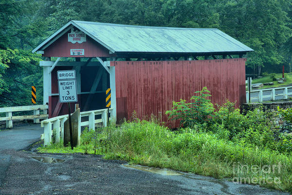 Somerset County Photograph - Brush Creek Covered Bridge by Adam Jewell