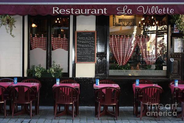 Wall Art - Photograph - Brussels - Restaurant La Villette by Carol Groenen