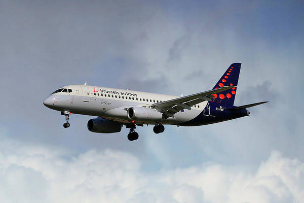 Airline Photograph - Brussels Airlines Sukhoi Superjet 100-95b by Smart Aviation