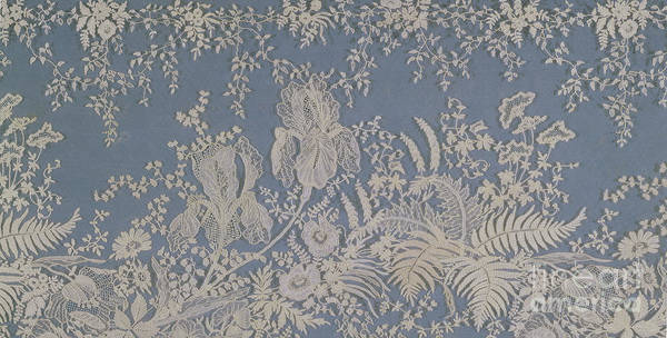 Wall Art - Tapestry - Textile - Brussels Lace by Belgian School