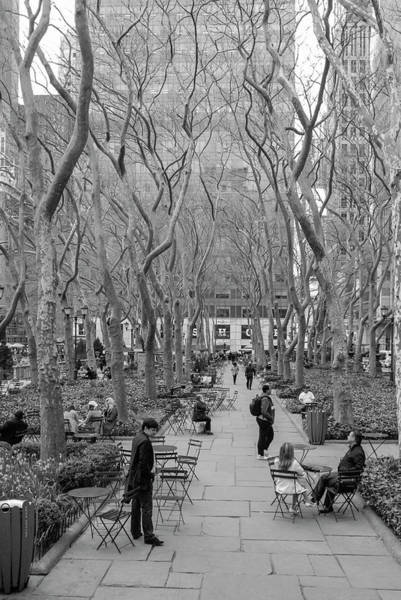 Photograph - Bryant Park Life In New York City by Ranjay Mitra