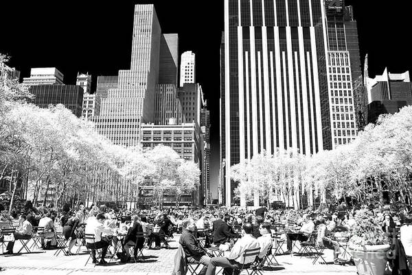 Wall Art - Photograph - Bryant Park Lunch 2006 by John Rizzuto