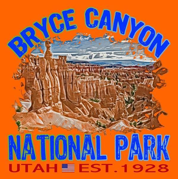 Wall Art - Digital Art - Bryce Canyon National Park by David G Paul