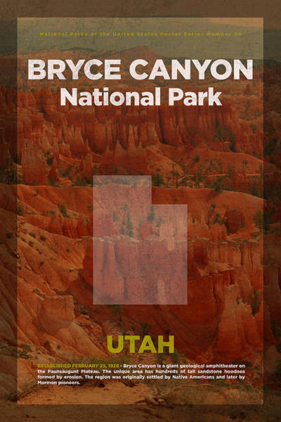 Canyon Mixed Media - Bryce Canyon National Park In Utah Travel Poster Series Of National Parks Number 06 by Design Turnpike