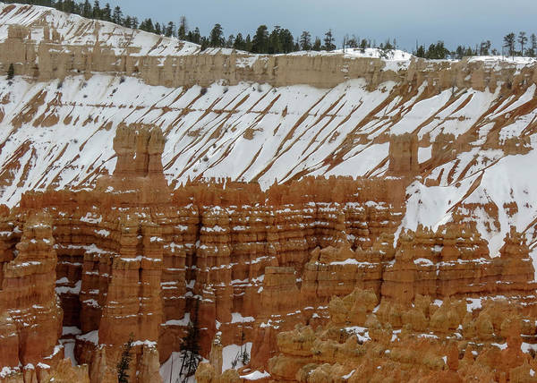 Photograph - Bryce Canyon Series #12 Snow On The Ridge by Patti Deters