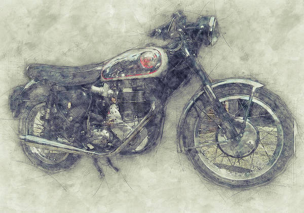 Wall Art - Mixed Media - Bsa Gold Star 1 - 1938 - Motorcycle Poster - Automotive Art by Studio Grafiikka