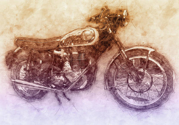 Wall Art - Mixed Media - Bsa Gold Star 2 - 1938 - Motorcycle Poster - Automotive Art by Studio Grafiikka