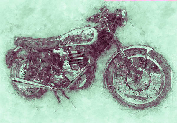 Wall Art - Mixed Media - Bsa Gold Star 3 - 1938 - Motorcycle Poster - Automotive Art by Studio Grafiikka