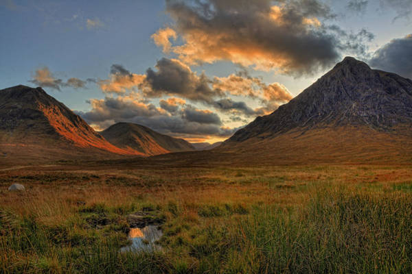 Montain Photograph - Buachaille Etive Mor Before Sunset  by Jim Dohms