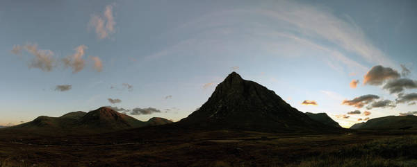 Photograph - Buachaille Panorama Sunset by Grant Glendinning