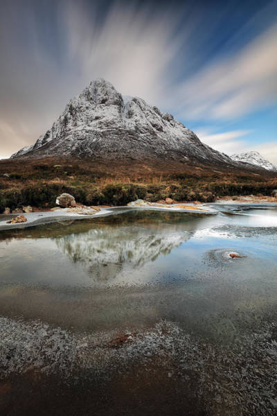 Photograph - Buachaille Reflection by Grant Glendinning
