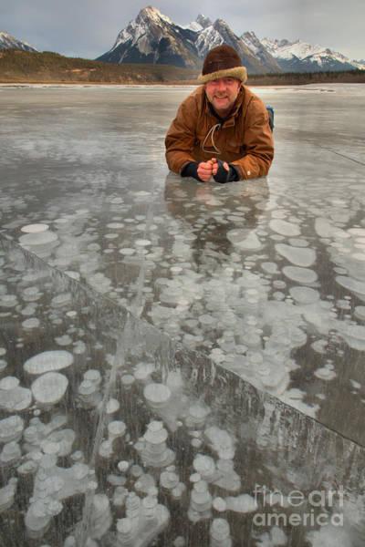 Photograph - Bubble Bath At Abraham Lake by Adam Jewell