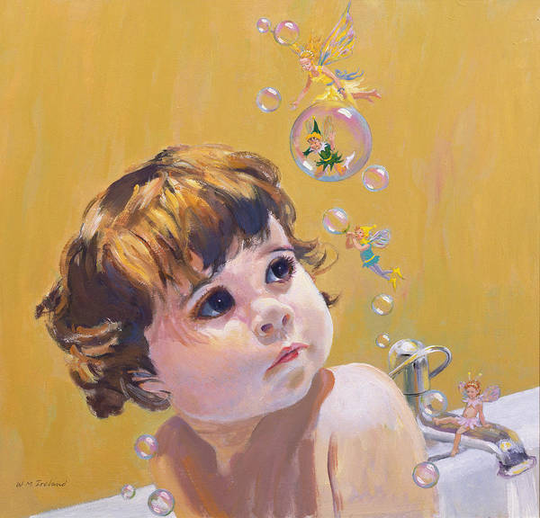 Wall Art - Painting - Bubble Bath by William Ireland