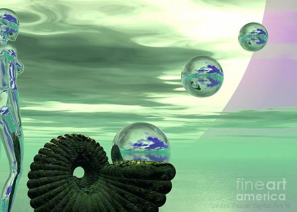 Digital Art - Bubble Machine by Sandra Bauser Digital Art