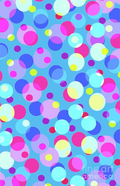Neon Blue Digital Art - Bubble Pop by Louisa Knight