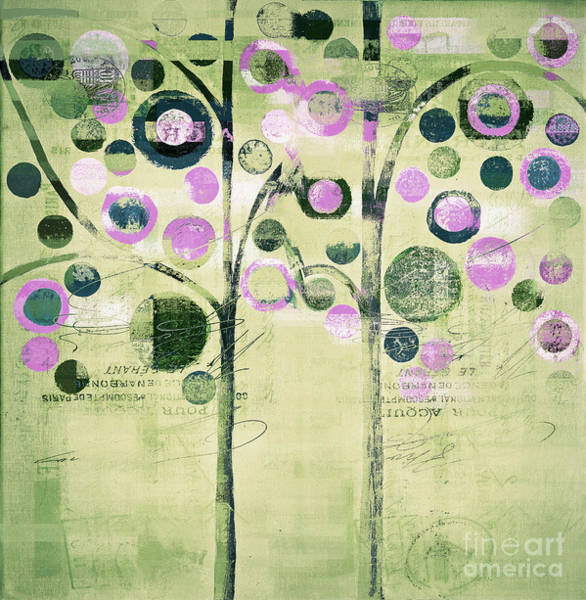 Wall Art - Painting - Bubble Tree Duo - 44gree3 by Variance Collections