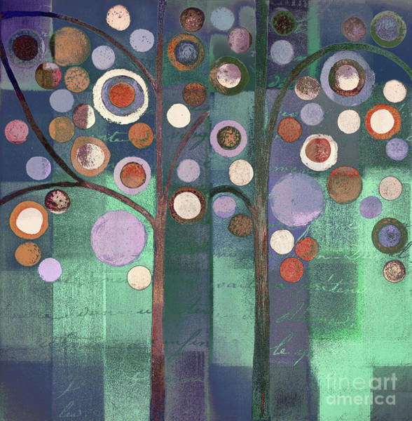 Wall Art - Painting - Bubble Tree Duo - 5506b by Variance Collections