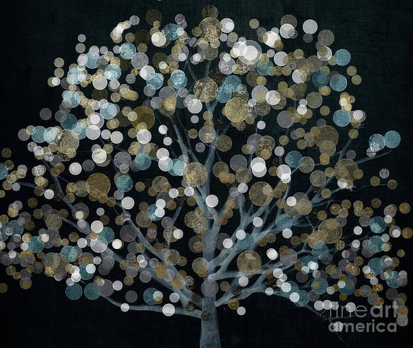 Wall Art - Painting - Bubble Tree Night by Mindy Sommers