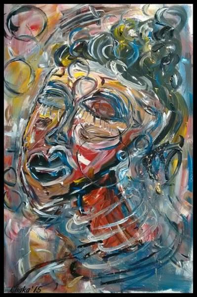 Portrait Painting - Bubbles by Chakanaka Zinyemba
