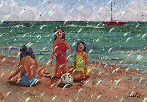 Volley Painting - Bubbles  by Glenn Farrell