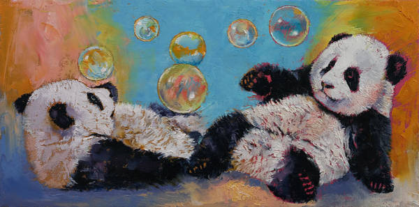 Two Friends Wall Art - Painting - Bubbles by Michael Creese