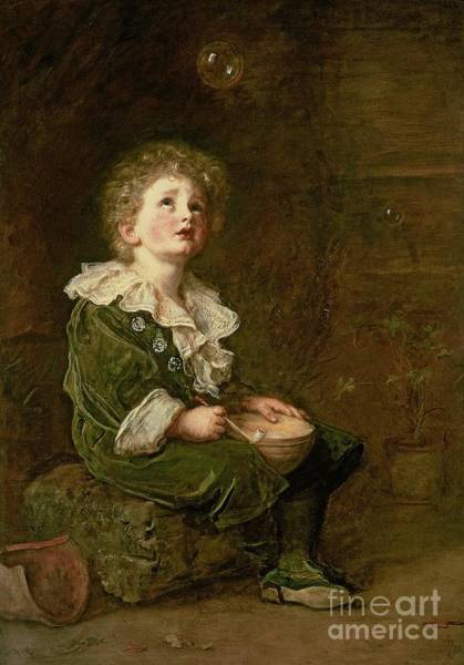 Millais Painting - Bubbles by Sir John Everett Millais