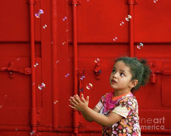 Aimelle Photograph - Bubbling Girl by Aimelle