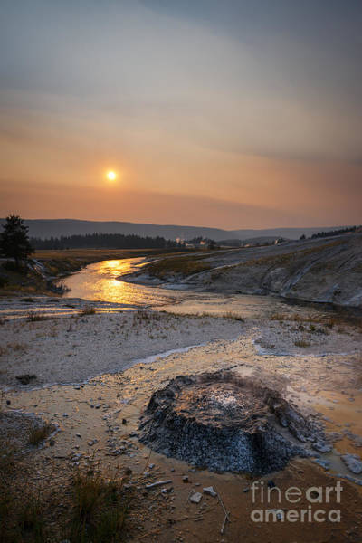 Oxidation Photograph - Bubbling Hot Spring In Yellowstone National Park by Michael Ver Sprill