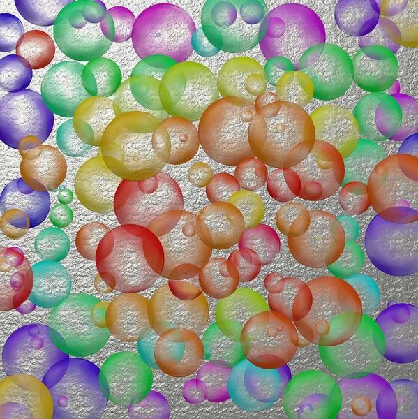 Bouncy Digital Art - Bubbly Bubbles 2 by Nelma Grace Higgins