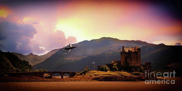 Eilean Donan Castle Digital Art - Bucc At The Castle by J Biggadike
