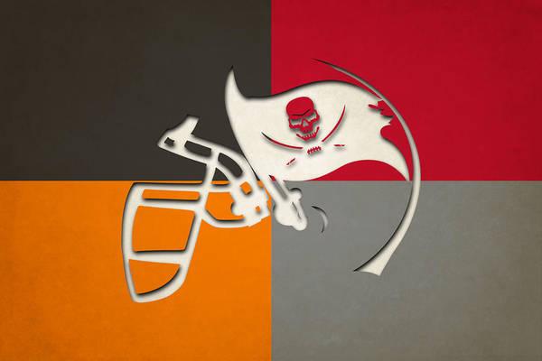 Wall Art - Photograph - Buccaneers Helmet Art 2 by Joe Hamilton
