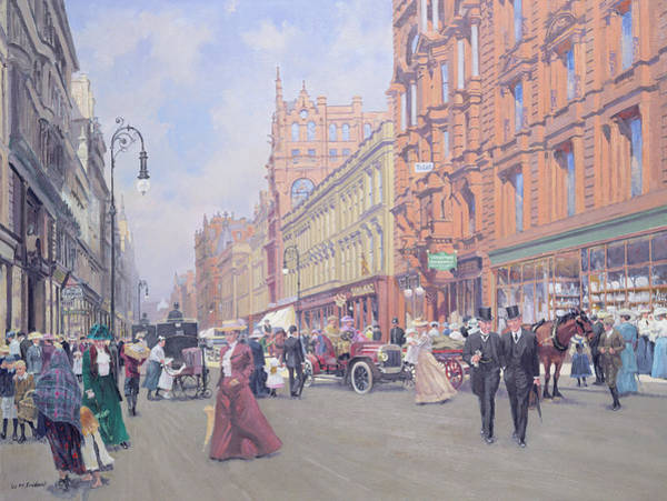 Urban Life Painting - Buchanan Street by William Ireland