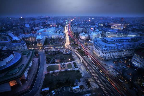Wall Art - Photograph - Bucharest At Blue Hour by Adrian Malanca