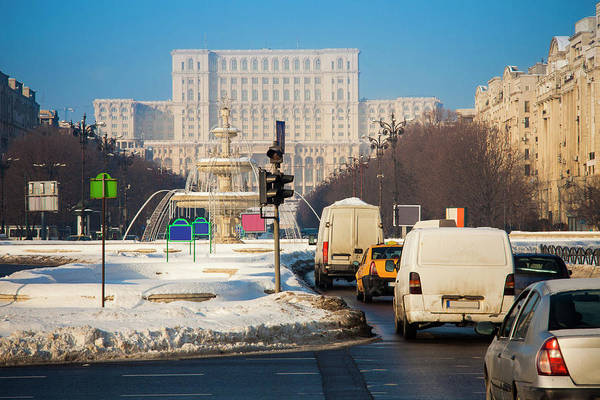Ceausescu Wall Art - Photograph - Bucharest City Traffic by Ioan Panaite