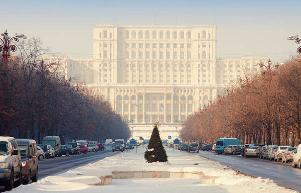 Ceausescu Wall Art - Photograph - Bucharest View Of Parliament Building by Ioan Panaite
