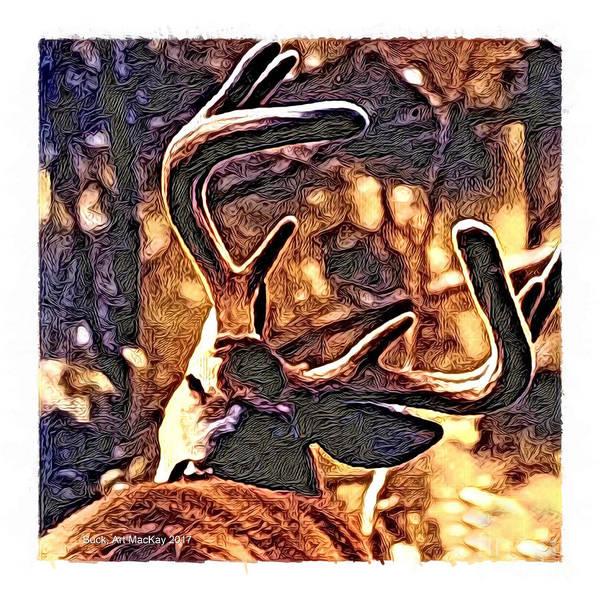 Digital Art - Buck by Art MacKay