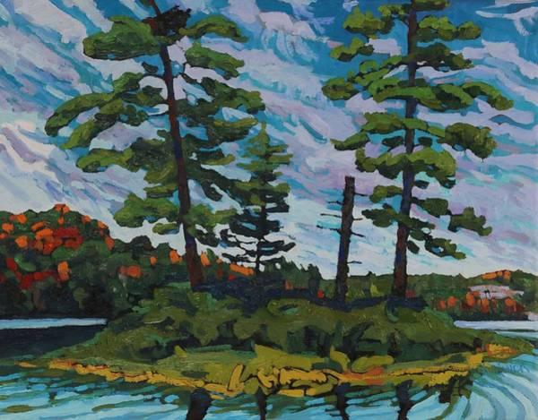Wall Art - Painting - Buck Lake Island by Phil Chadwick