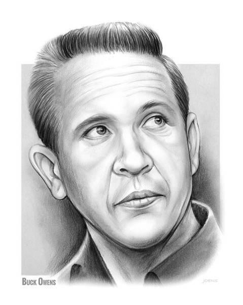 Buck Wall Art - Drawing - Buck Owens by Greg Joens