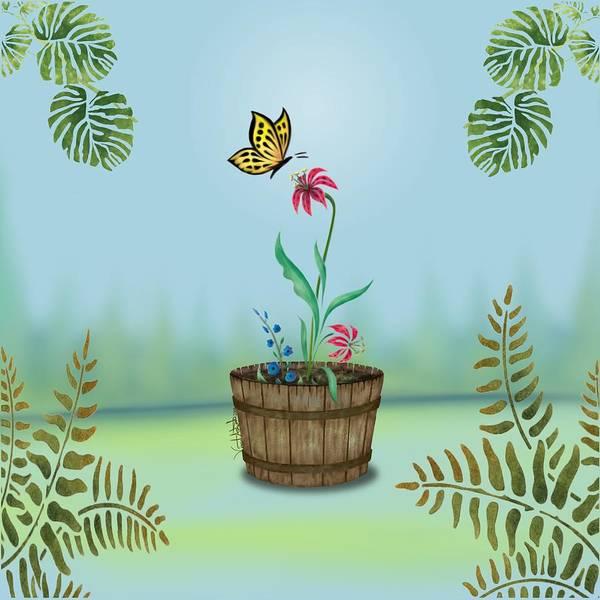 Digital Art - Bucket Butterfly 1 by Vincent Autenrieb
