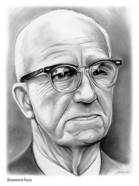 Authors Drawing - Buckminster Fuller by Greg Joens