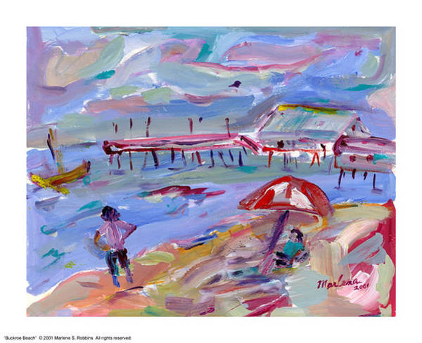 Painting - Buckroe Beach by Marlene Robbins