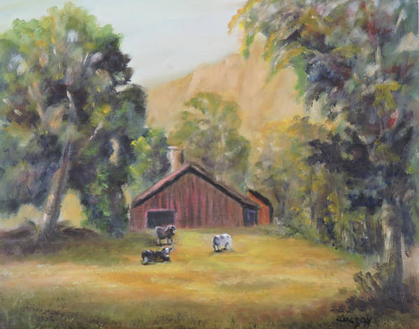 Painting - Bucks County Pa Barn by Katalin Luczay