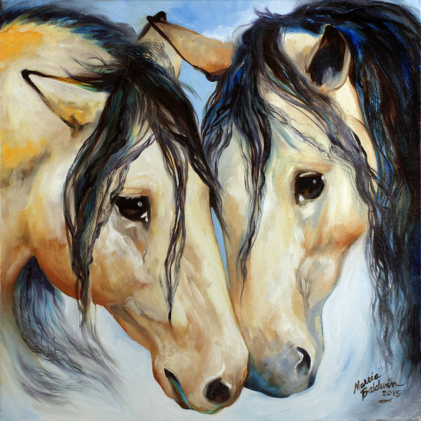 Painting - Buckskin Friends by Marcia Baldwin