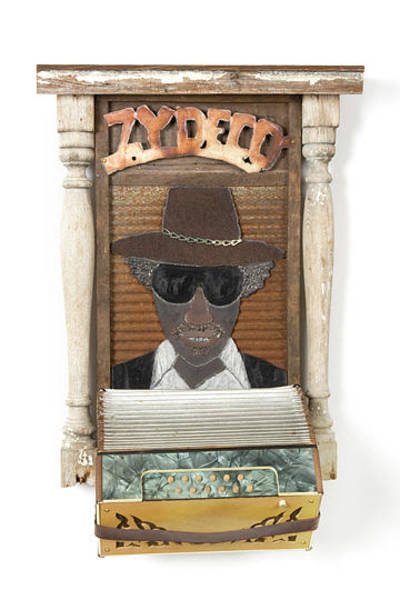Wall Art - Mixed Media - Buckwheat Zydeco by Benjamin Bullins